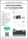 Informationsfolder om hjemmesiden